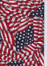 cranston ~ WAVING AMERICAN FLAG ~ fabric printed in USA  31