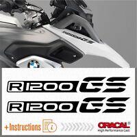 2x R1200 GS Black BMW ADESIVI PEGATINA R1200GS AUTOCOLLANT R 1200 AUFKLEBER
