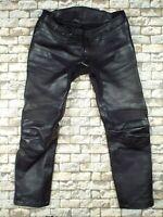 IXS Leather Goretex Motorcycle Pants 3XL Black Bandit Cafe Sport Touring Racer