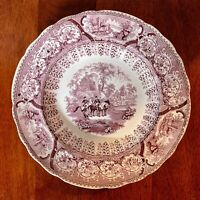 Antique Transferware Plate Hackwood Potteries Arabian Sketches Arabs Halting