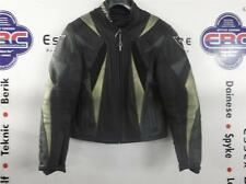 Dainese Ladies Monza Black Gold Leather Motorcycle Jacket Size EU 44 UK 12