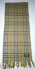 GENUINE BURBERRY BURBERRY'S SCARF GREEN 100%LAMBSWOOL CLASSIC NOVA VINTAGE CHECK
