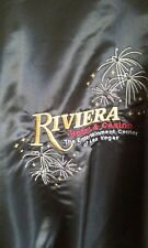 Mammoth Riviera Hotel & Casino XXL to 3XL Black Satin Jacket Sharp Jeff Hamilton