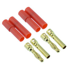 PAIR of HXT 4mm Gold Bullet RC Lipo Battery Connector Car Plane Helicopter