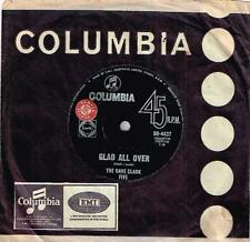 "THE DAVE CLARKE FIVE - GLAD ALL OVER - RARE 7"" 45 SAMPLE VINYL RECORD - 1964"
