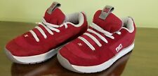 DC Skateboard Shoes Ladies Size 6L Red Suede/Mesh and White VGPC!!