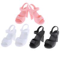 3 Pair Handmade Plastic Doll High Heel Shoes for 1/4 BJD Dolls DIY Dress up