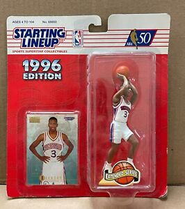 96 Starting Lineup ALLEN IVERSON PHILADELPHIA SIXERS ROOKIE NEW ON CARD