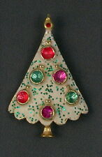 Vintage B.J. Beatrix Christmas Tree Brooch Pin