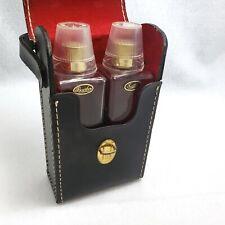 Vintage Leather Case Travel Bar Liquor Set Shot Glass Bourbon Scotch Bottles