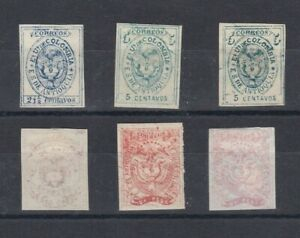 Antioquia Colombia States Study Group of 6 First Issue Reprints