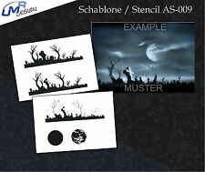 Step by Step Stencil ~~ UMR Airbrush Schablone AS-009 M