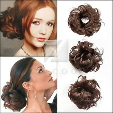 Synthetic Fiber Hair Bun Scrunchie Hairpiece Pony Tail Extension Accessaries