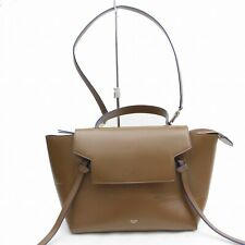Authentic CELINE Hand Bag BELT BAG Browns Leather 1107961