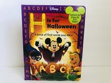 Disney H is for Halloween, Alphabet Phonics Abc Interactive Flap Micky Mouse