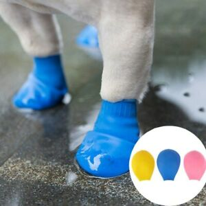 Pet Dog Shoes Waterproof Rubber Rain Boots Footwear For Outdoor Use