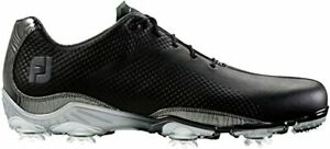 NEW! FootJoy [11] Medium Leather D.N.A. Men's Golf Shoes 53455-Black