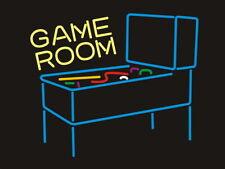 "New Game Pinball Arcade Game Room Beer Bar Neon Light Sign 24""x20"""