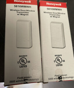2 HONEYWELL SECURITY 5816WMWH WIRELESS DOOR WINDOW ADEMCO VISTA ALARM SENSOR