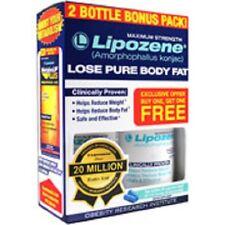 LIPOZENE MAXIMUM STRENGTH 2 BOTTLES BONUS PACK WEIGHT LOSS DIET PILLS EXP 05/20