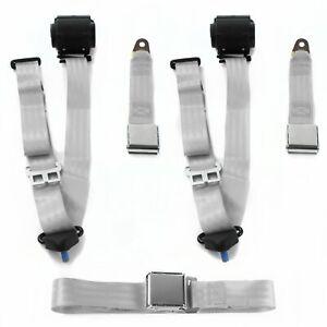 AMC Eagle 1979 - 1987 Airplane 3pt G/G Retractable Bench Seat Belt Kit - 3 Belts