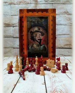 Don Quixote souvenir Handmade chess Vintage wooden chess Rare chess Exclusive