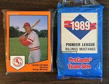 1989 ProCards BILLINGS Minor League UNOPEN Team Set TREVOR HOFFMAN RC B2018711