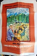"Joel McCrea in Mustang Country Movie Poster Folded 40""x27"""