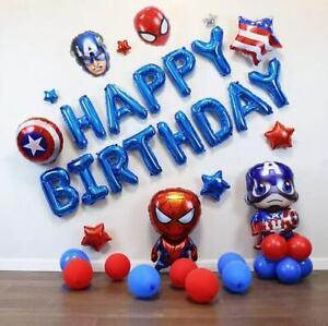 33 Avengers Spider-man Captain America Balloon Set Kid Birthday Party Decoration