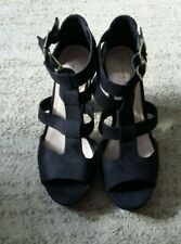 New Look Black platform high Heels shoes Size UK 5