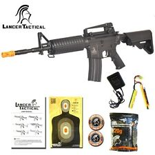 Lancer Tactical M4A1 Carbine Automatic Electric Metal Gear AEG Airsoft Rifle BLK