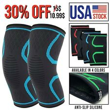 Knee Compression Sleeve Brace Support Gym Sport Run workout Joint Pain Arthritis