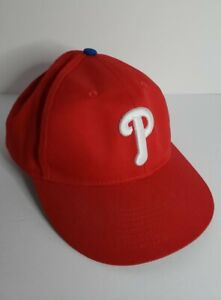 Philadelphia Phillies Baseball Cap Hat Red White OC sports Genuine MLB SZ Youth