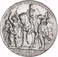 "Jäger 110 - Preußen - 3 Mark Silber "" Der König rief "" 1913 Münze in Münzkapsel"