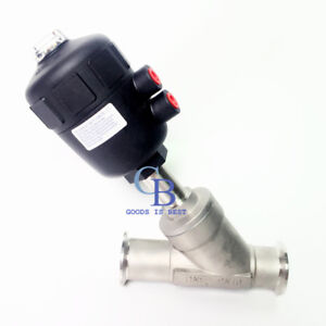 """1"""" Clamp OD 50.5mm Single Acting Air Actuated Sanitary Angle Seat Valve NC"""