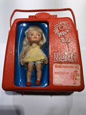 Vintage Heidi Doll in Carry Case Pocketbook Doll Magic Button 1960'S Toy
