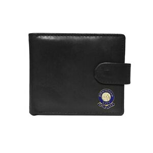 Birmingham City football club black leather wallet with coin pocket, new in box