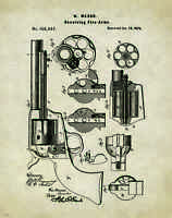 Revolver Pistol Patent Poster Art Print Antique Colt Winchester Gun  PAT272