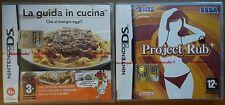 X2 Gioco Game La Guida in Cucina Project Rub Nintendo DS Sonic Team Sega Touch