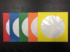 1000 MEMOREX CD DVD VIDEO GAME 5 COLOR PAPER SLEEVE ENVELOPE CLEAR WINDOW 100G