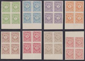 Belgium 1886 MORESNET Local Post MNH stamp set 9/16 Bloc of 4 - Cat value 1980 €
