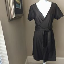 JONATHAN JOSEPH PETERS Custom Brown Wrap Dress Project Runway Designer Size 2