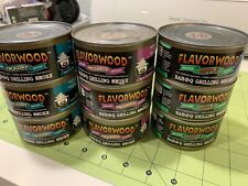 Flavorwood BBQ Smoke 9 Cans Wood Pellets Hickory Mesquite Apple