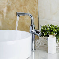 US Swivel Spout Bathroom Basin Vessel Sink Vanity Mixer Faucet Deck Mount Taps
