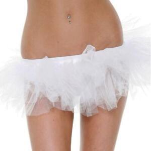 Mini Petticoat Tutu Layered Mesh Ruffled Short Underskirt Black White 118201