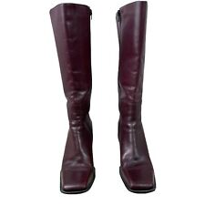 Diba USA Shoes Knee High Boots Burgundy Women's Size 11 Leather Made in Brazil