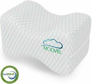MODVEL Orthopedic Knee Pillow | Memory Foam Cushion For Hip, Sciatica, Back pain