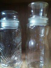 2 MR PEANUT GLASS CANISTER JARS