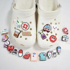 10pcs Shoe Charms Cartoon Medical Shoe Buckle Decorations Fit Croc Wristb^lk