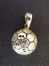 Sterling Silver SOCCER BALL Charm Pendant
